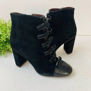 SEE BY CHLOE Gisel Suede Bow Ankle Booties 7.5M